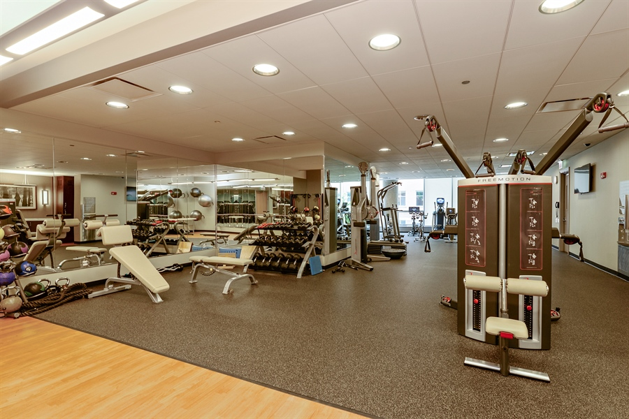 Real Estate Photography - 30 W Oak St, 6F, Chicago, IL, 60610 - Exercise Room