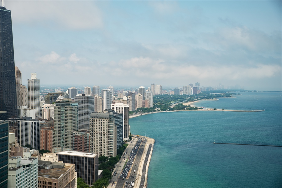 Real Estate Photography - 505 N Lakeshore Dr, Unit 5701, Chicago, IL, 60611 - View