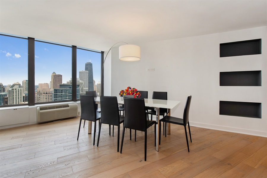 Real Estate Photography - 505 N Lakeshore Dr, Unit 5701, Chicago, IL, 60611 - Dining Room