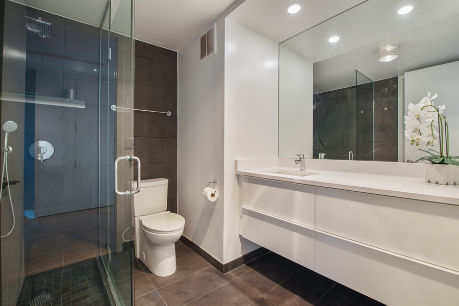 Real Estate Photography - 505 N Lakeshore Dr, Unit 5701, Chicago, IL, 60611 - Bathroom