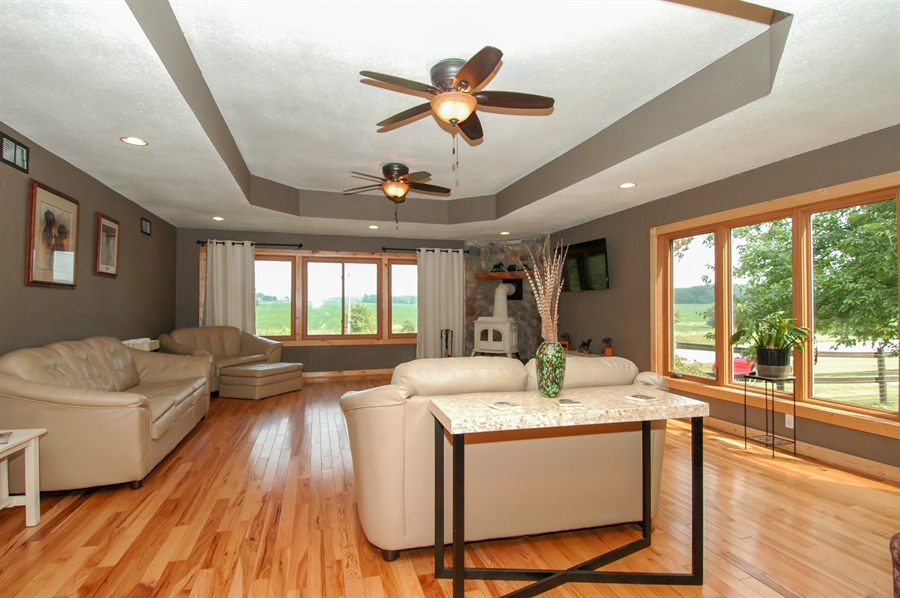 Real Estate Photography - W3839 State Road 33, Horicon, WI, 53032 - Living Room