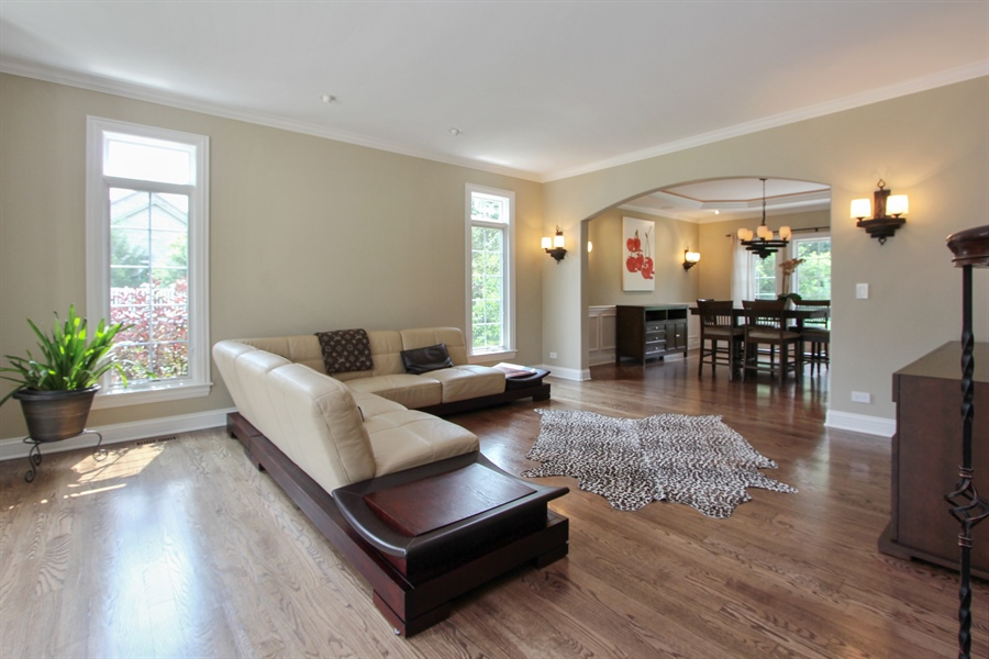 Real Estate Photography - 205 Beech Dr, Lake Zurich, IL, 60047 - Living Room