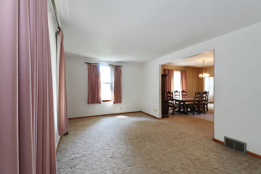 Real Estate Photography - 424 prairie, BEECHER, IL, 60401 - Living Room / Dining Room