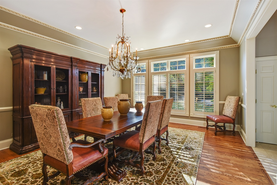 Real Estate Photography - 1 Porter School Road, Barrington Hills, IL, 60010 - Dining Room