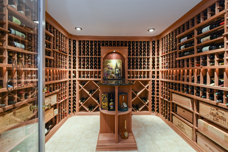 Real Estate Photography - 1 Porter School Road, Barrington Hills, IL, 60010 - Wine Cellar