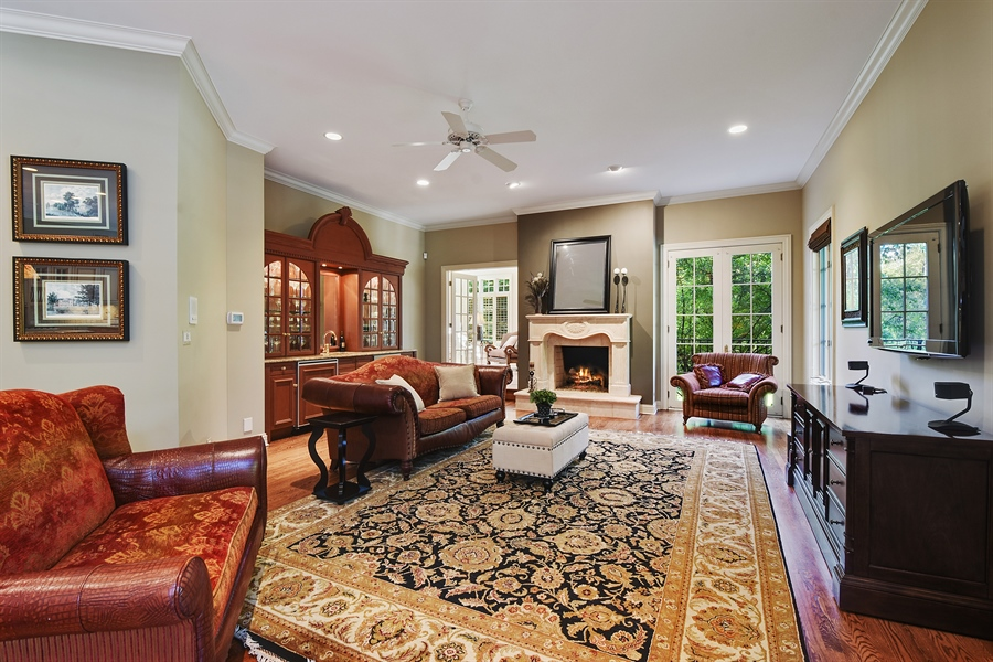 Real Estate Photography - 1 Porter School Road, Barrington Hills, IL, 60010 - Family Room