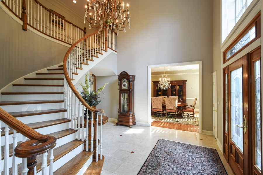 Real Estate Photography - 1 Porter School Road, Barrington Hills, IL, 60010 - Foyer