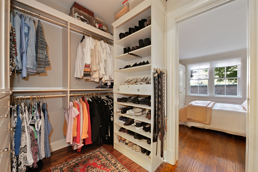 Real Estate Photography - 24 E Scott, Unit 1, Chicago, IL, 60610 - Master Bedroom Closet