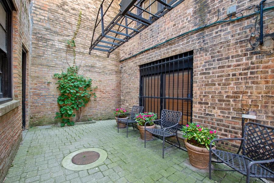 Real Estate Photography - 24 E Scott, Unit 1, Chicago, IL, 60610 - Patio