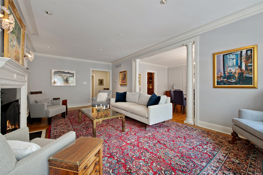 Real Estate Photography - 24 E Scott, Unit 1, Chicago, IL, 60610 - Living Room / Dining Room