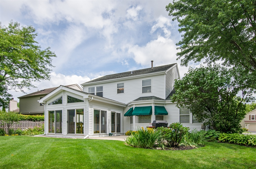 Real Estate Photography - 1159 Stanton Rd, Lake Zurich, IL, 60047 - Rear View