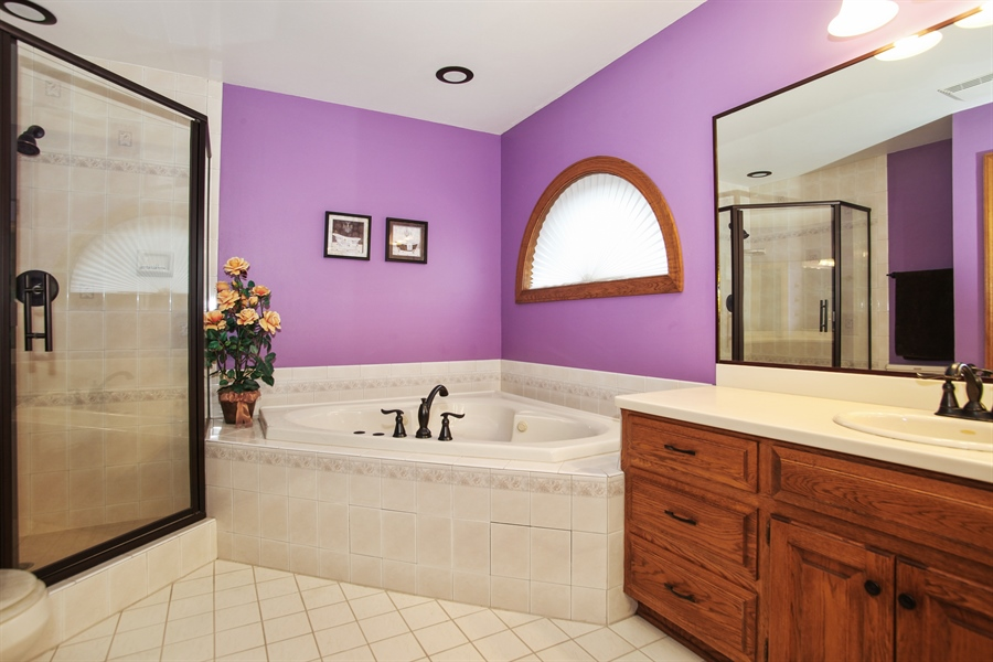 Real Estate Photography - 264 St. Augustine Rd, Colgate, WI, 53017 - Master Bathroom