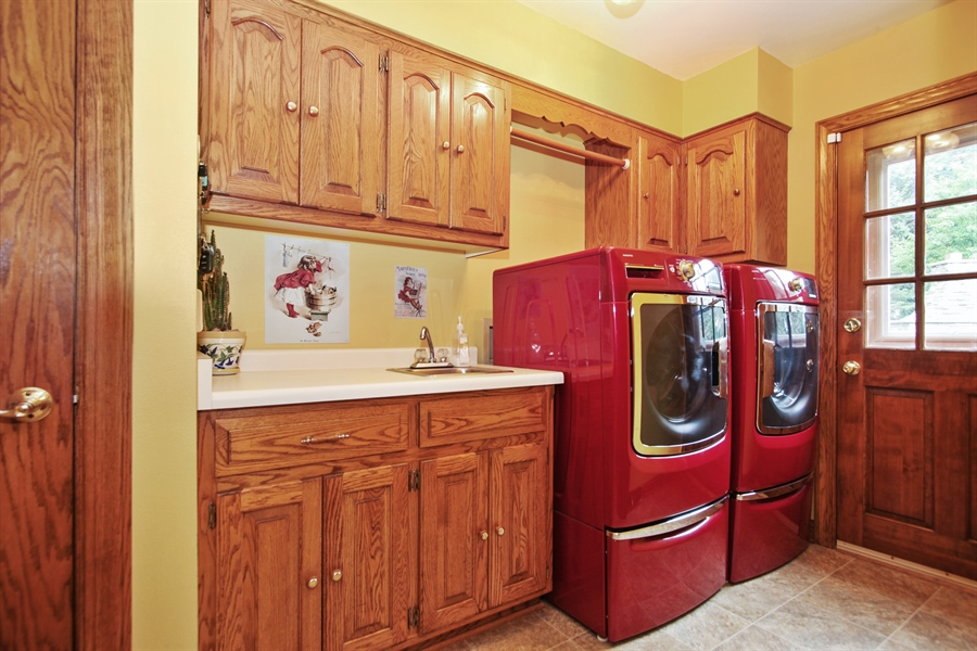 Real Estate Photography - 264 St. Augustine Rd, Colgate, WI, 53017 - Laundry Room
