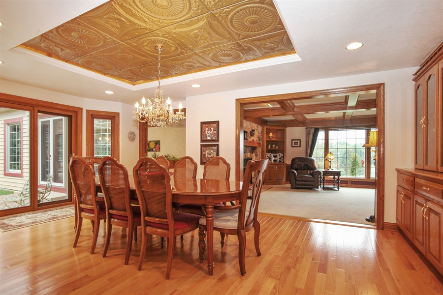 Real Estate Photography - 264 St. Augustine Rd, Colgate, WI, 53017 - Family Room / Dining Room