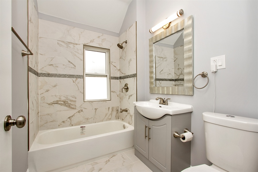 Real Estate Photography - 10138 S Parnell Ave, Chicago, IL, 60628 - 2nd Bathroom