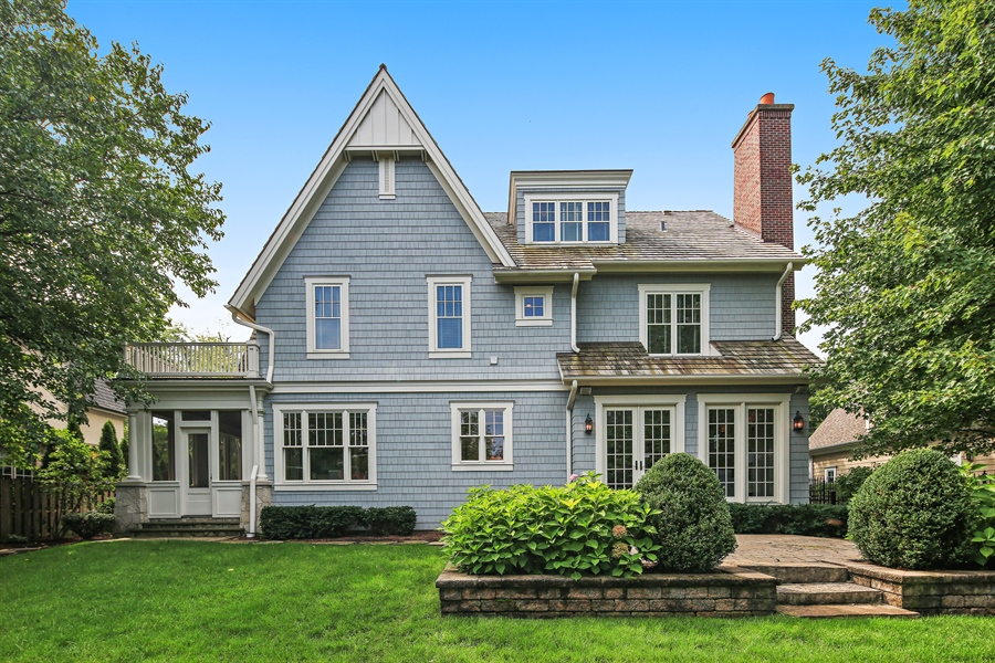 Real Estate Photography - 311 W 9th St, Hinsdale, IL, 60521 - Rear View
