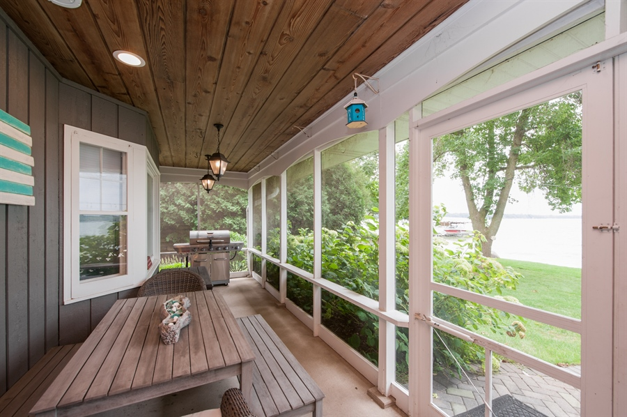 Real Estate Photography - 271 W. Park Drive, Twin Lake, WI, 53181 - Porch - Dining Area & BBQ