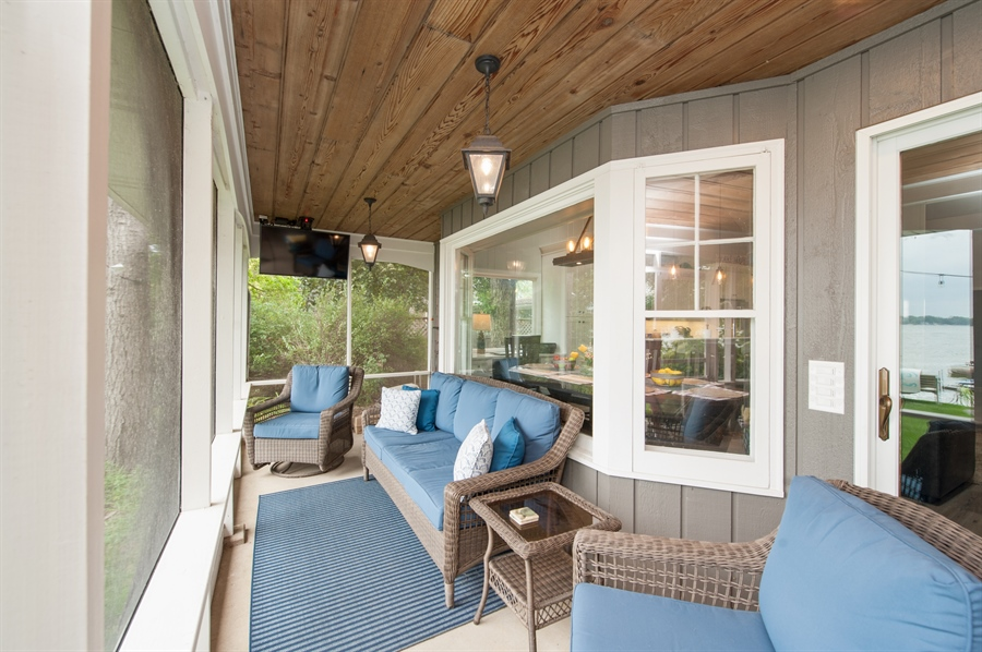 Real Estate Photography - 271 W. Park Drive, Twin Lake, WI, 53181 - Porch - Seating Area