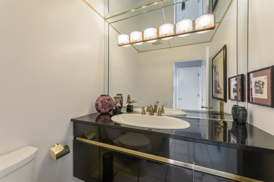 Real Estate Photography - 5322 Fenview Ct., Long Grove, IL, 60047 - Powder Room