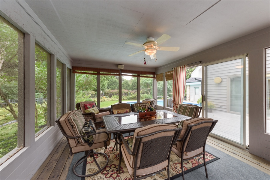 Real Estate Photography - 5322 Fenview Ct., Long Grove, IL, 60047 - Sunroom