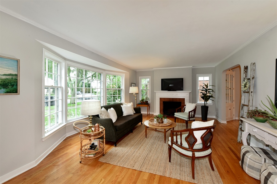 Real Estate Photography - 310 Leitch, La Grange, IL, 60525 - Living Room