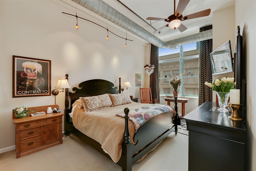 Real Estate Photography - 1020 S Wabash, 8C, Chicago, IL, 60605 - Master Bedroom