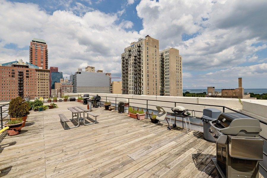 Real Estate Photography - 1020 S Wabash, 8C, Chicago, IL, 60605 - Common Roof Deck