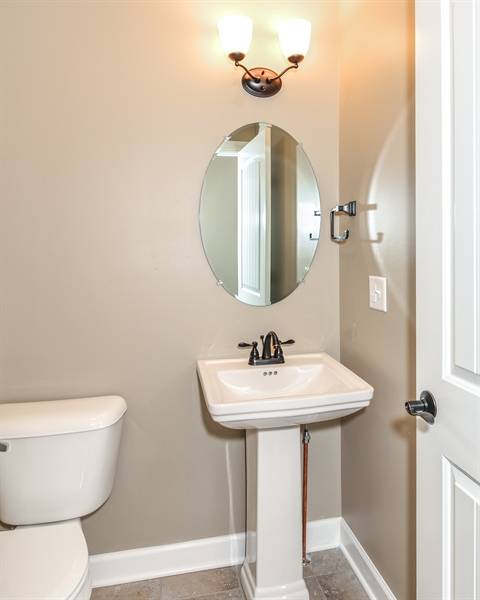 Real Estate Photography - 1670 Eagle Bluff, Bourbonnais, IL, 60914 - Half Bath