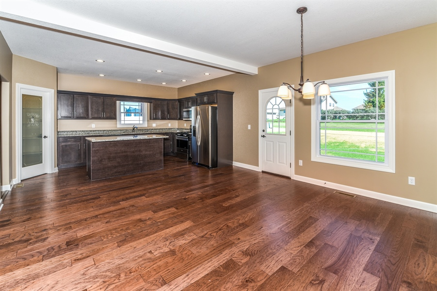 Real Estate Photography - 1670 Eagle Bluff, Bourbonnais, IL, 60914 - Kitchen / Dining Room