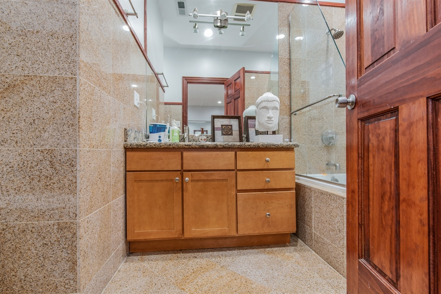 Real Estate Photography - 5634 S Priaire, 2S, Chicago, IL, 60637 - Master Bathroom
