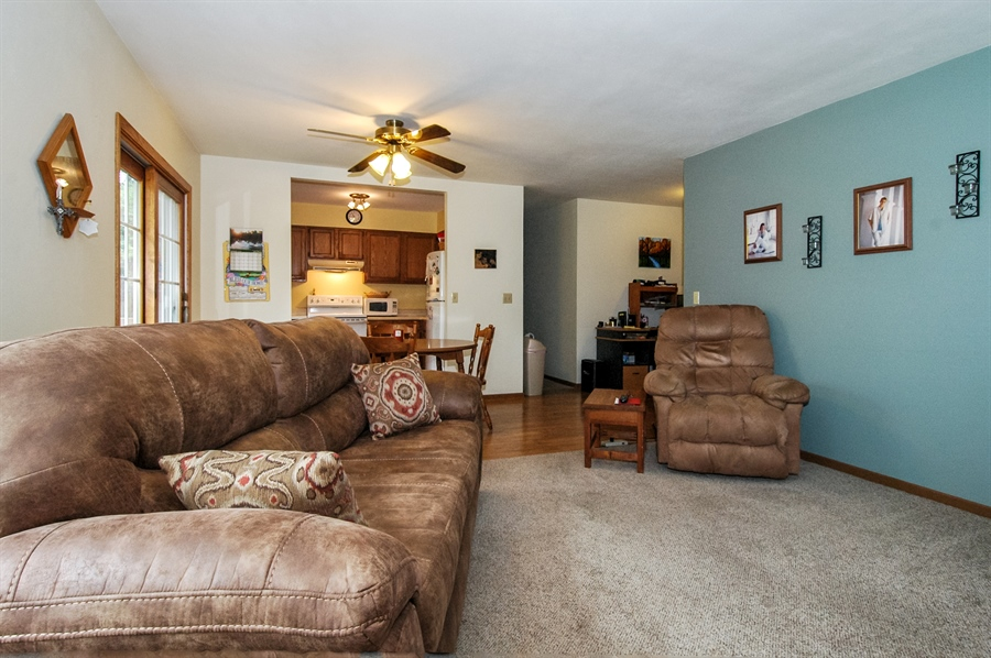 Real Estate Photography - 495 Betterway St, Keith, Mayville, WI, 53050 - Kitchen / Living Room
