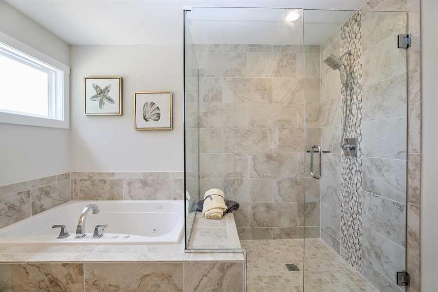 Real Estate Photography - 1025 Oak Grove Court, Crown Point, IN, 46307 - Master Bathroom