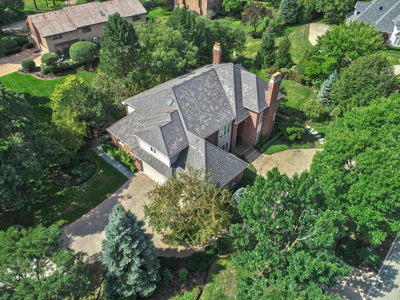 Real Estate Photography - 2 Brighton Place, Burr Ridge, IL, 60527 - Aerial View