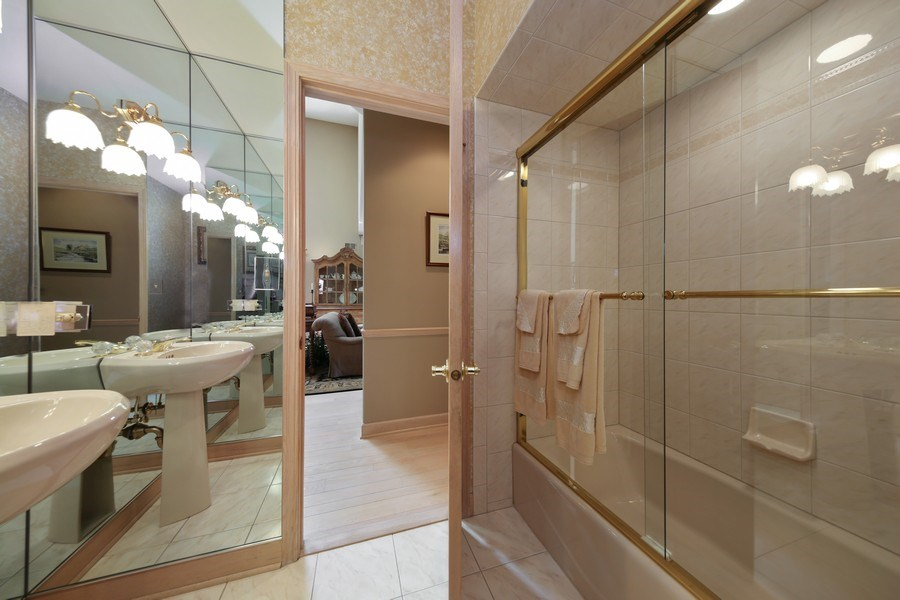 Real Estate Photography - 2 Brighton Place, Burr Ridge, IL, 60527 - 2nd Bathroom