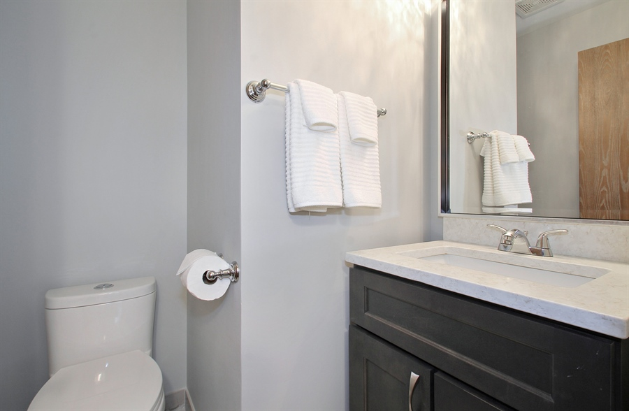 Real Estate Photography - 8421 W. Gregory, 201, Chicago, IL, 60656 - Half Bath
