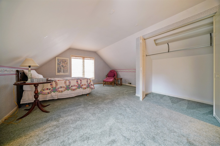 Real Estate Photography - 3932 Grove Ave, Western Springs, IL, 60558 - Large Master Bedroom with closet on 3rd Level