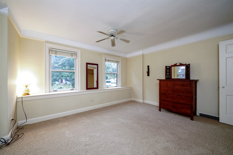 Real Estate Photography - 3932 Grove Ave, Western Springs, IL, 60558 - Second Bedroom with spacious closet