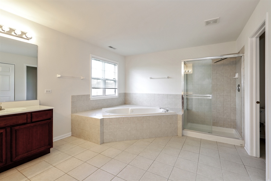 Real Estate Photography - 705 Goodman Ct, Barrington Hills, IL, 60010 - Master Bathroom