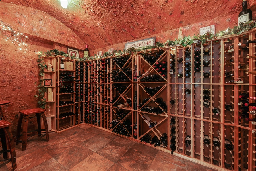 Real Estate Photography - 10 W Peter Ln, Hawthorn Woods, IL, 60047 - Wine Cellar