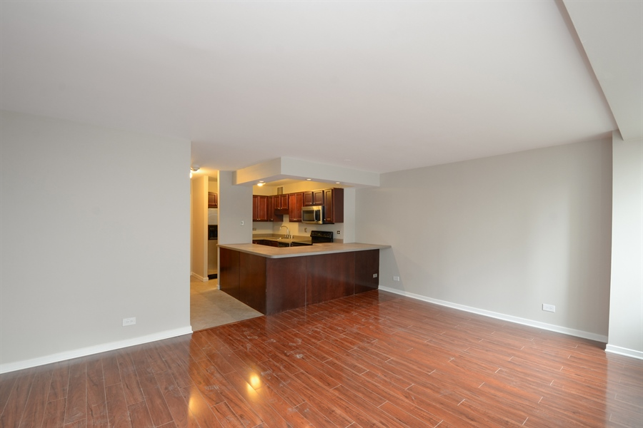 Real Estate Photography - 211 E Ohio, 1024, chicago, IL, 60611 - Kitchen / Living Room