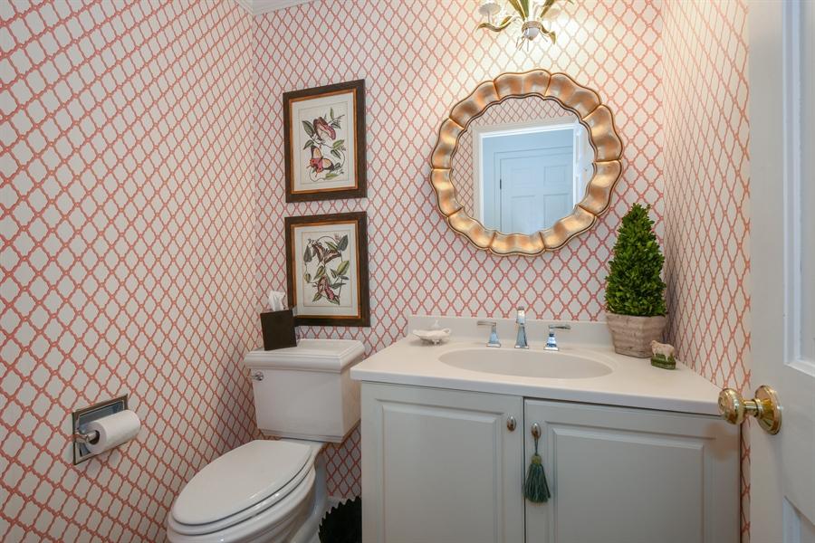 Real Estate Photography - 20 Ashbury Lane, Barrington Hills, IL, 60010 - Powder Room