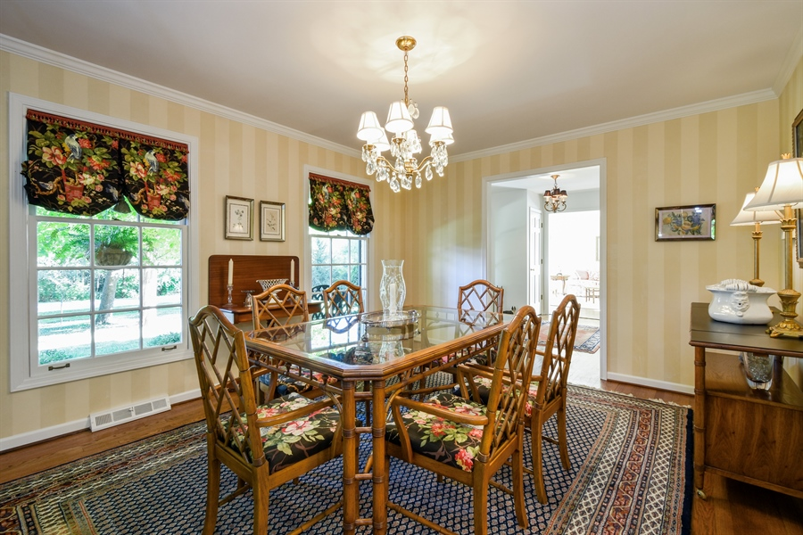Real Estate Photography - 20 Ashbury Lane, Barrington Hills, IL, 60010 - Dining Room