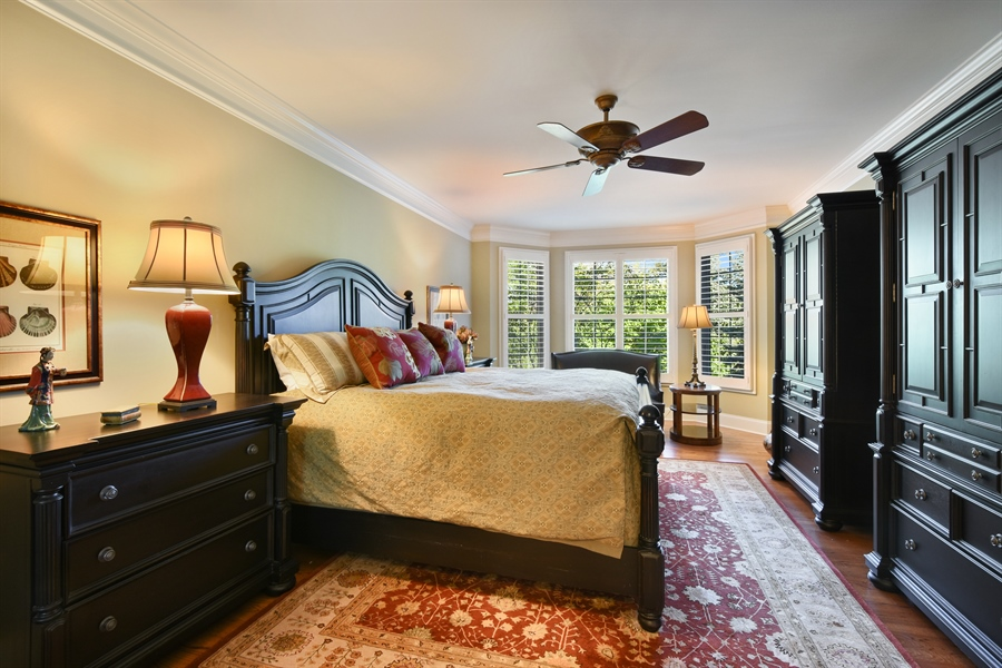 Real Estate Photography - 1012 Ridgeview Drive, Inverness, IL, 60010 - Master Bedroom