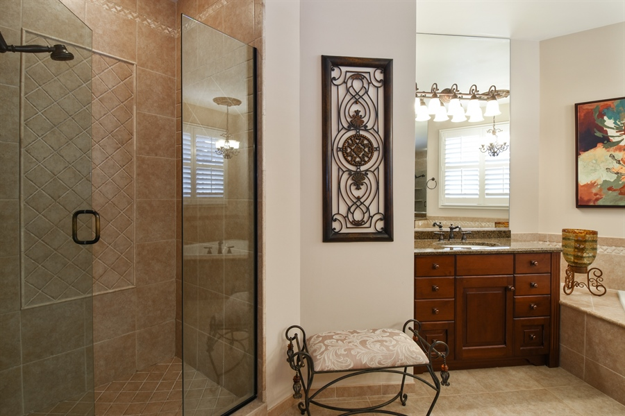 Real Estate Photography - 1012 Ridgeview Drive, Inverness, IL, 60010 - Master Bathroom