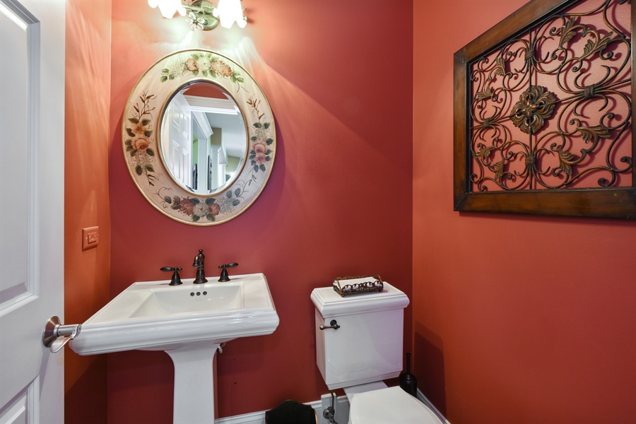Real Estate Photography - 1012 Ridgeview Drive, Inverness, IL, 60010 - Powder Room