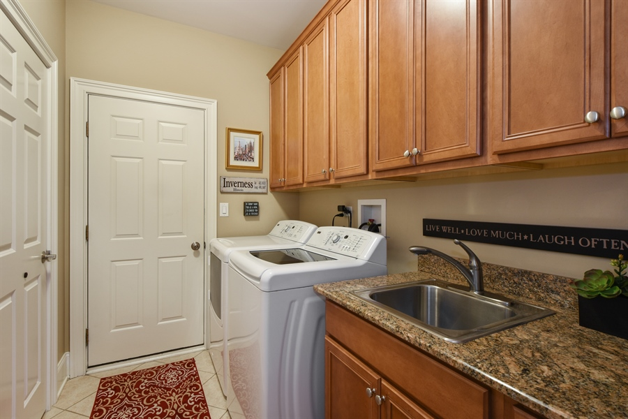 Real Estate Photography - 1012 Ridgeview Drive, Inverness, IL, 60010 - Laundry Room