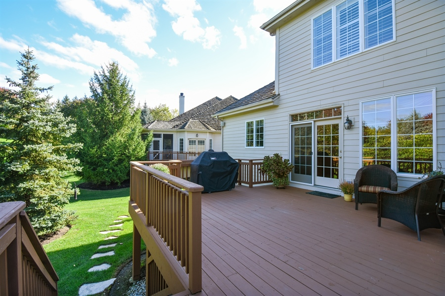 Real Estate Photography - 1012 Ridgeview Drive, Inverness, IL, 60010 - Deck