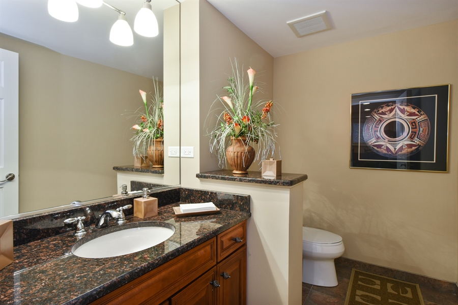 Real Estate Photography - 1012 Ridgeview Drive, Inverness, IL, 60010 - Half Bath