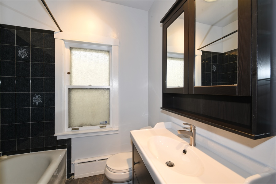 Real Estate Photography - 4206 N. Mozart, Chicago, IL, 60618 - Bathroom