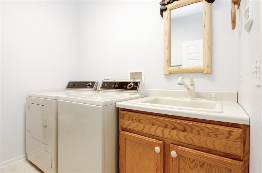 Real Estate Photography - 3013 Raccoon Cove, Island Lake, IL, 60042 - Laundry Room